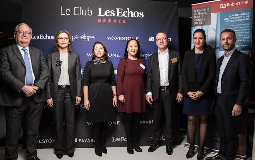 Club Les Echos Débats avec Patrick Artus et Mathilde Lemoine (Robert Half)