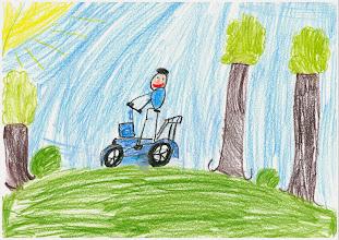 """Photo: praca Seweryna""""Jeździmy rowerem, bo wtedy spędzamy czas z rodziną"""""""