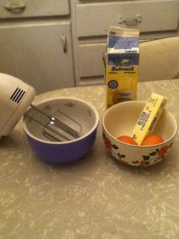 Have two smaller bowls,  with one large enough in which to beat your...