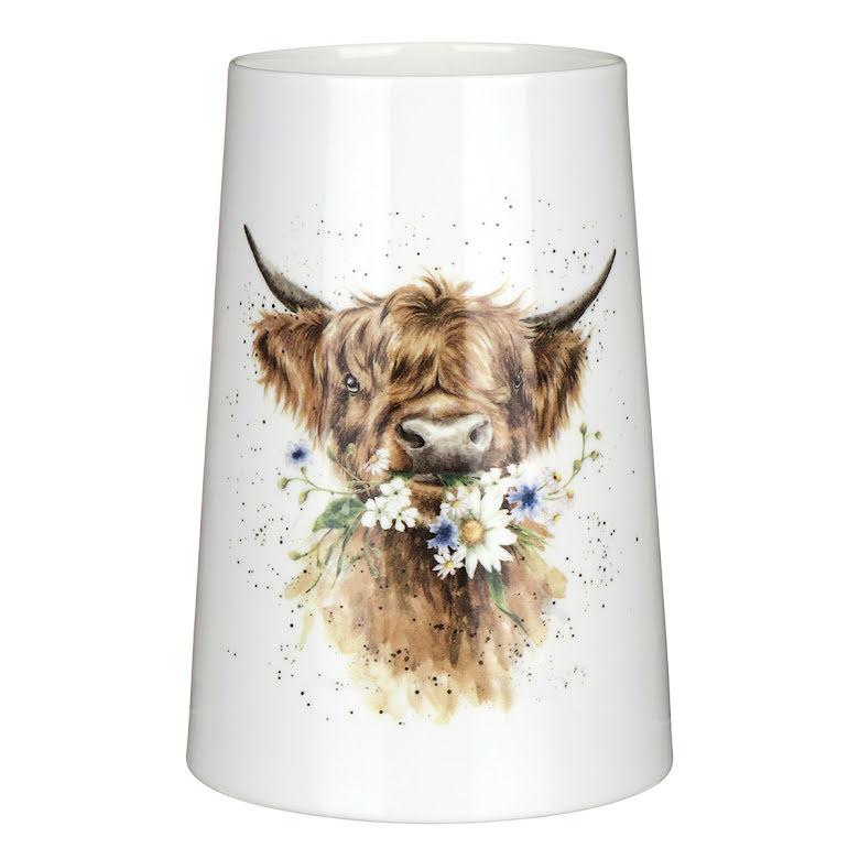 Wrendale Design Vas (Cow) 20cm