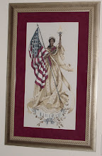 Photo: Lady of the Flag by Mirabilia. Finished August 2002. For myself but have since given it to my mother-in-law.