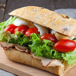Smoked Chicken Breast And Red Pesto Sandwich