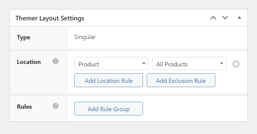 The correct Themer layout settings to use Beaver Themer as a WooCommerce page builder.