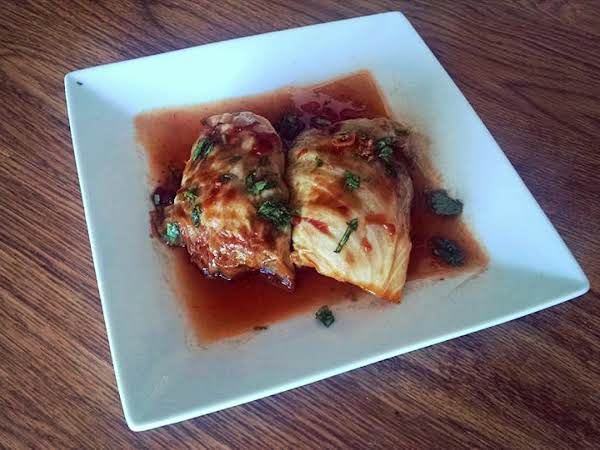 Asian Stuffed Cabbage Rolls Recipe