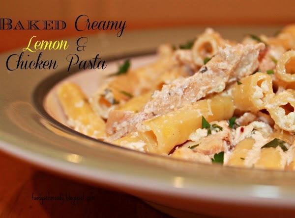 Baked Creamy Lemon & Chicken Pasta Recipe