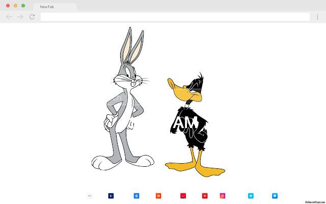 Bugs Bunny HD Pop Cartoons New Tabs Theme