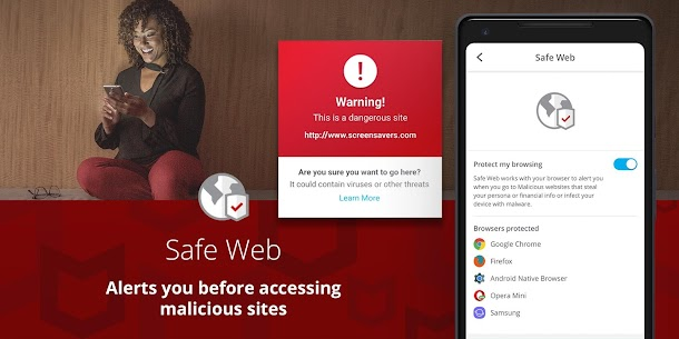 McAfee Mobile Security : Antivirus, Web Scan & App Lock 3