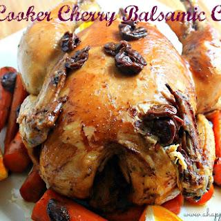 Slow Cooker Cherry Balsamic Chicken.