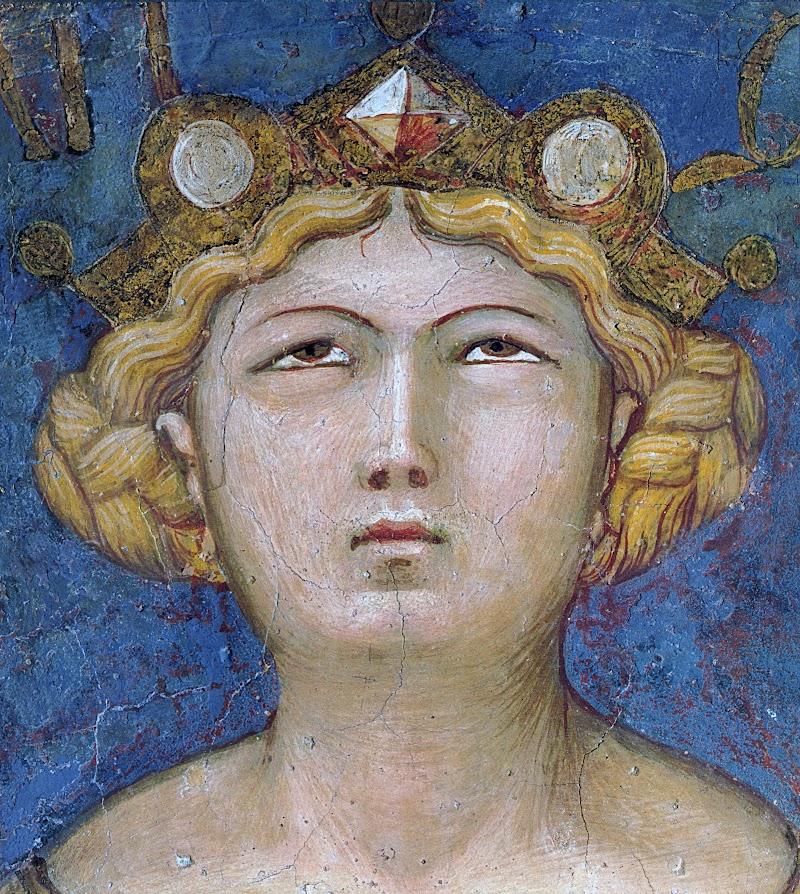 Ambrogio Lorenzetti, Effetti del Buon Governo, (particolare della Giustizia), Sala della Pace, Palazzo Pubblico, Siena