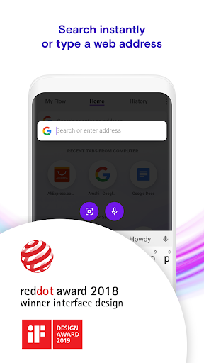 Opera Touch: the fast, new web browser 1.15.2 screenshots 1