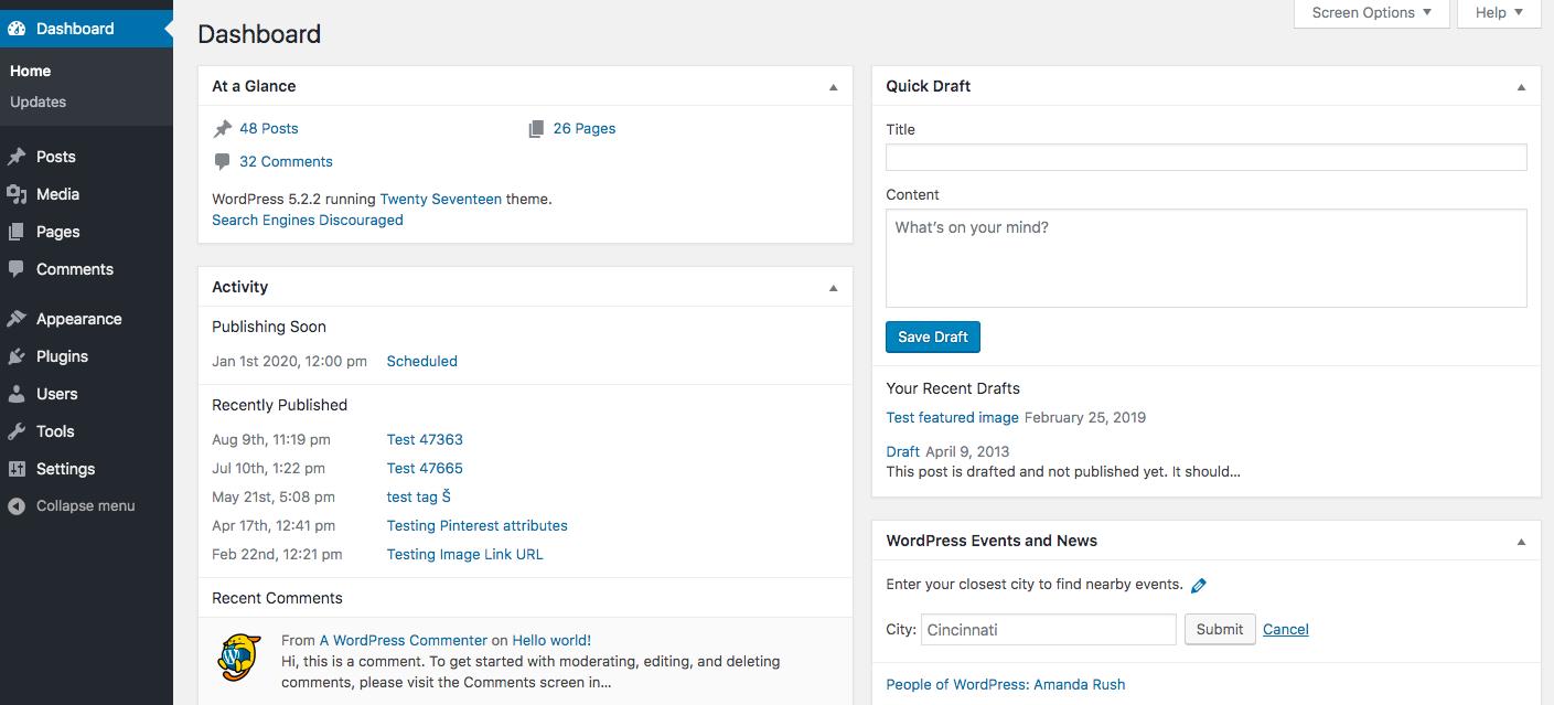 Dashboard widgets API | Common APIs Handbook | WordPress Developer Resources