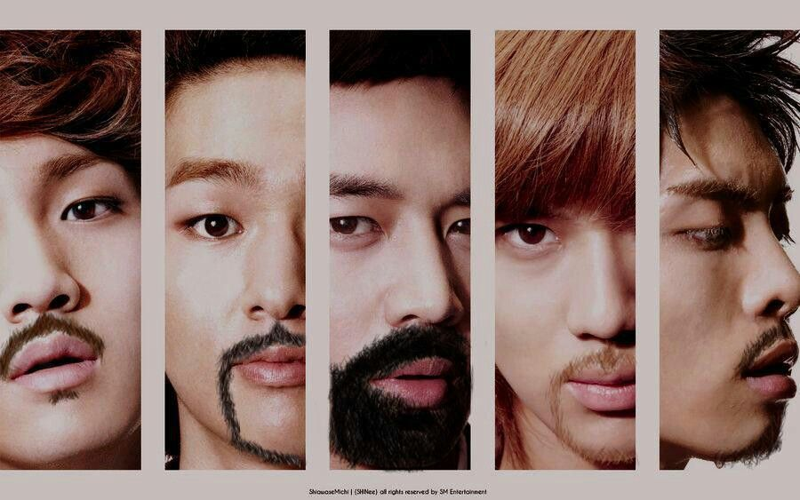 shinee beards 1