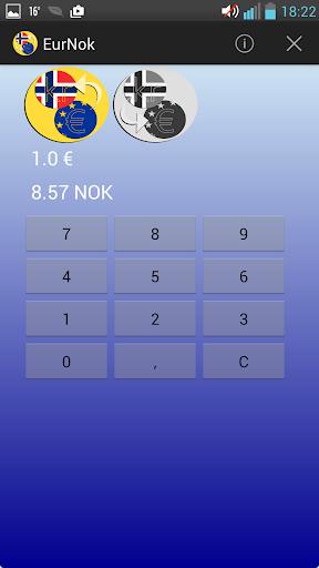 Norwegian krone Euro converter