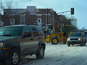 Photo: Traffic with Snow Plough