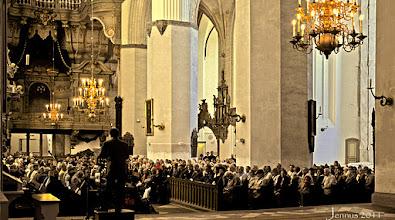 Photo: St. Marienkirche Rostock mit grosser Barockorgel