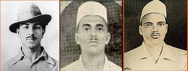 Bhagat Singh, Rajguru, and Sukhdev