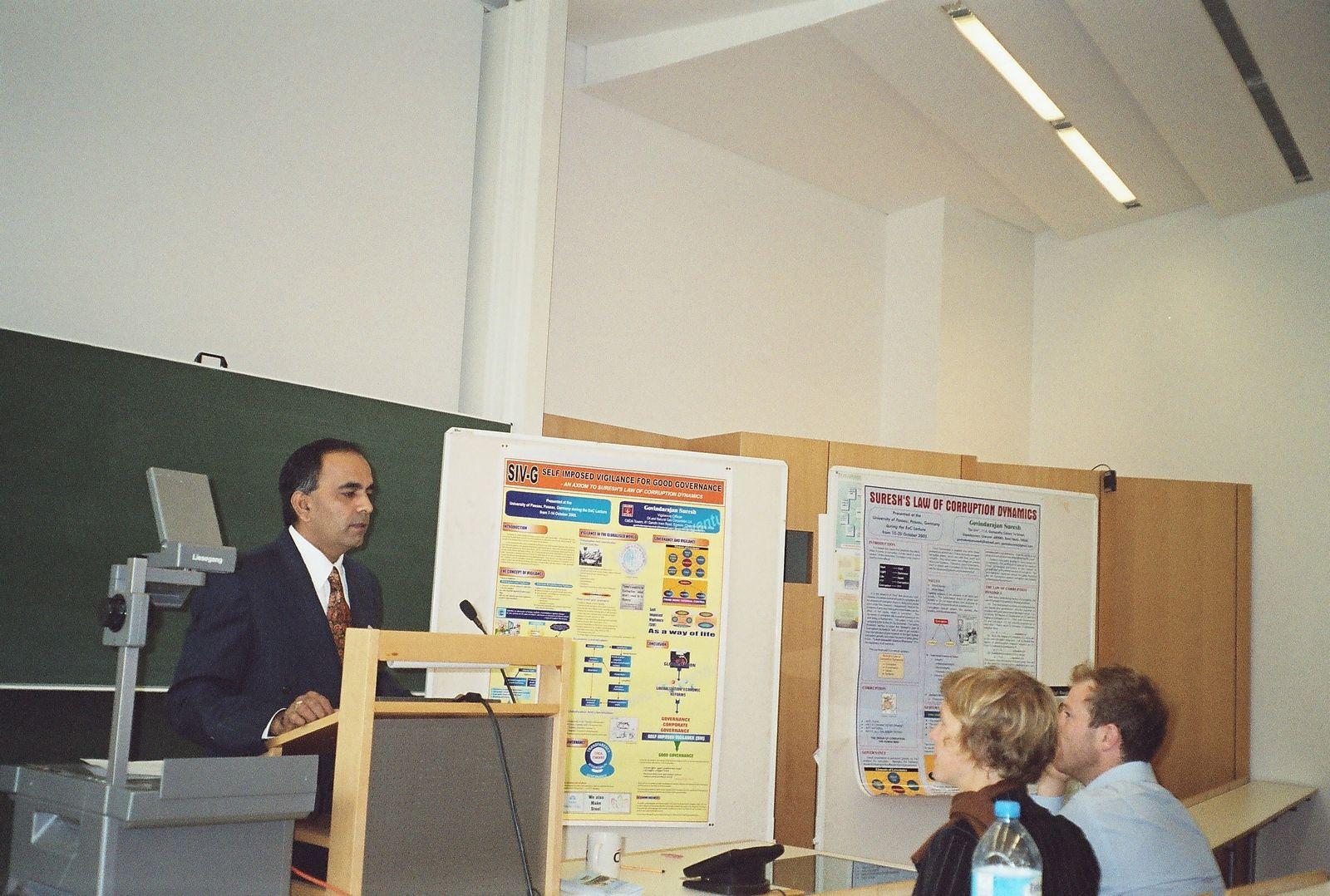 Photo: Govindarajan Suresh - Presenting his concept SIV-G : Self Imposed Vigilance for Good Governance