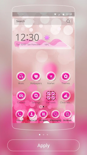 Pink bubble theme Screenshot