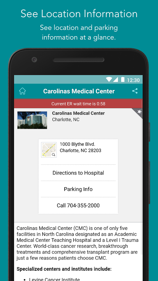 Carolinas HealthCare System- screenshot
