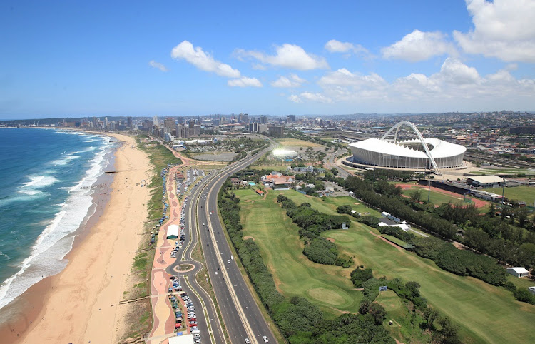 FILE PICTURE: January 1, 2014. Durban beachfront and stadiums on new years day.