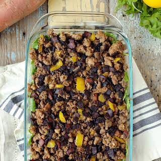 Meat and Sweet Potato Casserole.
