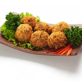 Salmon And Crab Patties Or Balls.