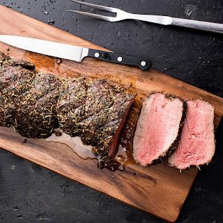 Grilled Montreal Beef Tenderloin.