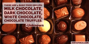 There Are 4 Basic Food Groups: Milk Chocolate, Dark Chocolate, White Chocolate, Chocolate Truffles. Recipe