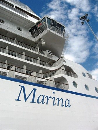 Oceania Mariner during inaugural cruise from Florida to California