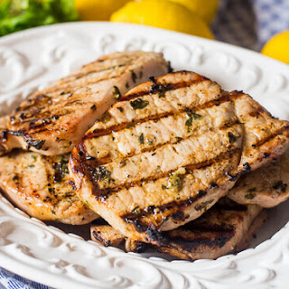 Grilled Basil Lemon Pork Chops.