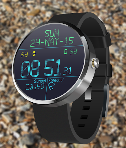LED Watch face with Weather  screenshots 3