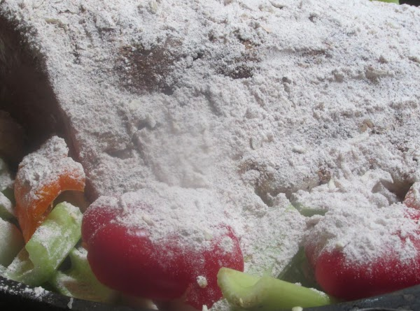 Now add the reserved flour mixture.