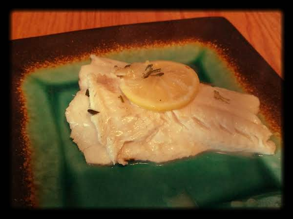 Buttery Lemon And Wine Steamed Bass