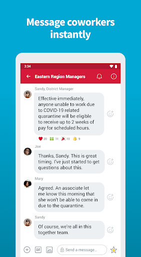 Crew - Free Messaging and Scheduling screenshot 2