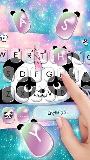 Kawaii Unicorn Panda Keyboard Theme 1.0 screenshots 2