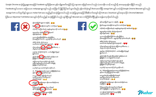 Mahar Myanmar Font
