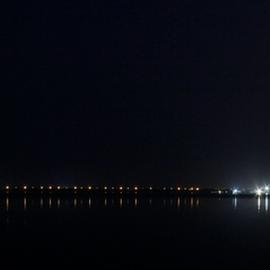 Shoreline of Karachi by Fawad Hashmi - City,  Street & Park  Night