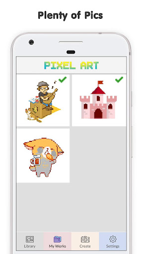 Pixel No.Draw: Color By Number, Art, Coloring Book image   6