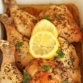 Basil Baked Chicken Legs.