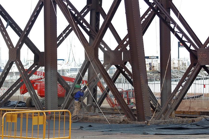 Obras de restauración del Cable Inglés.