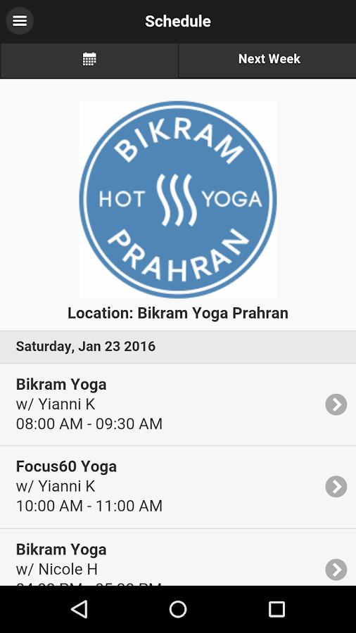 Bikram Hot Yoga Prahran- screenshot