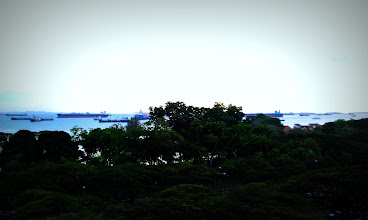 Photo: Some of the tankers awaiting berthing & provisions along East Coast Park, Singapore