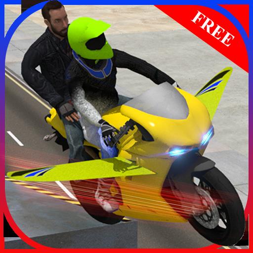 模拟のフライングバイクレース LOGO-HotApp4Game
