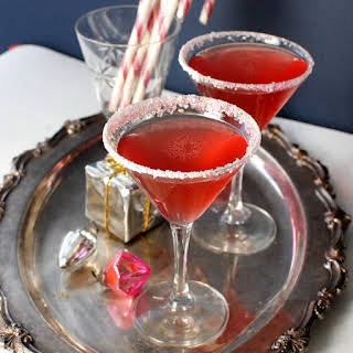 Homemade Candy Cane Vodka and Candy Cane Cocktail.
