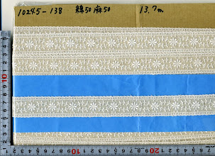 Photo: №10245-138綿50麻50レース:巾27mm