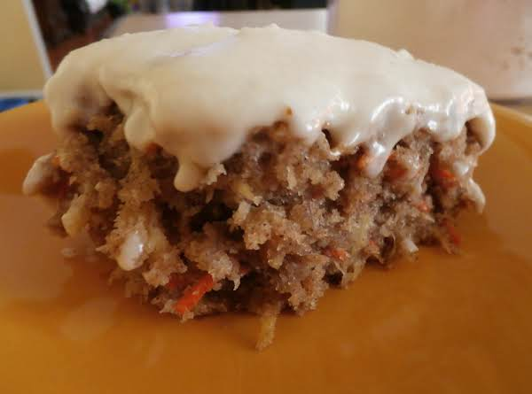 My 13x9 Carrot Cake With Fluffy Frosting
