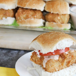Alaskan Cod Po' Boy Sliders with Homemade Remoulade