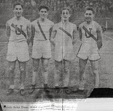 Photo: Leo Sternbach (2nd from Left) Utrecht High School Relay Team