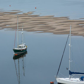Boat at the sea by Doris B - Transportation Boats ( sand, reflection, transport, sea, boat )