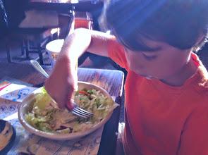 Photo: Clark Enjoys Salad!